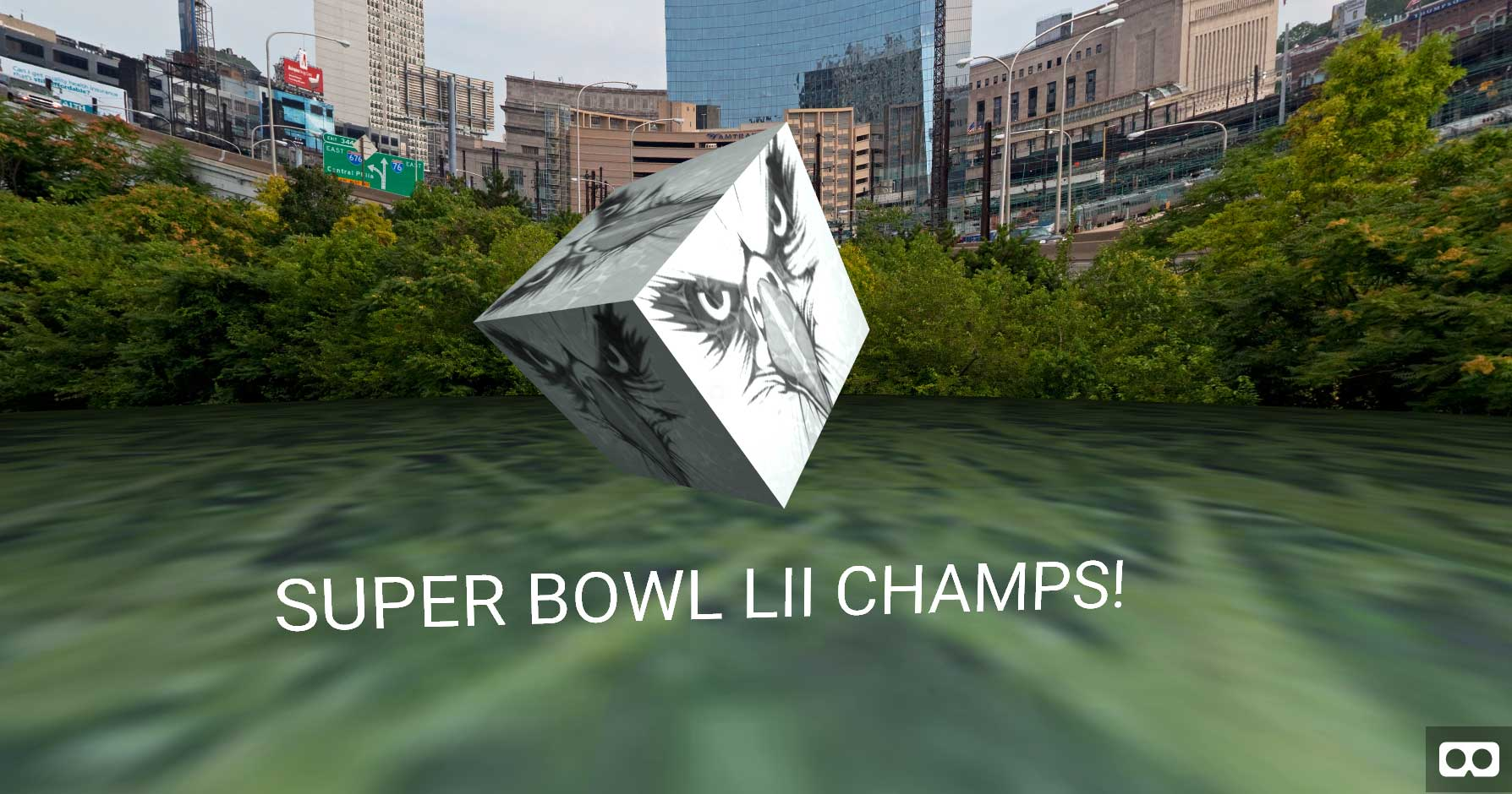 Our WebVR Tribute to Philadelphia for Super Bowl LII with Mozilla's A-FRAME VR