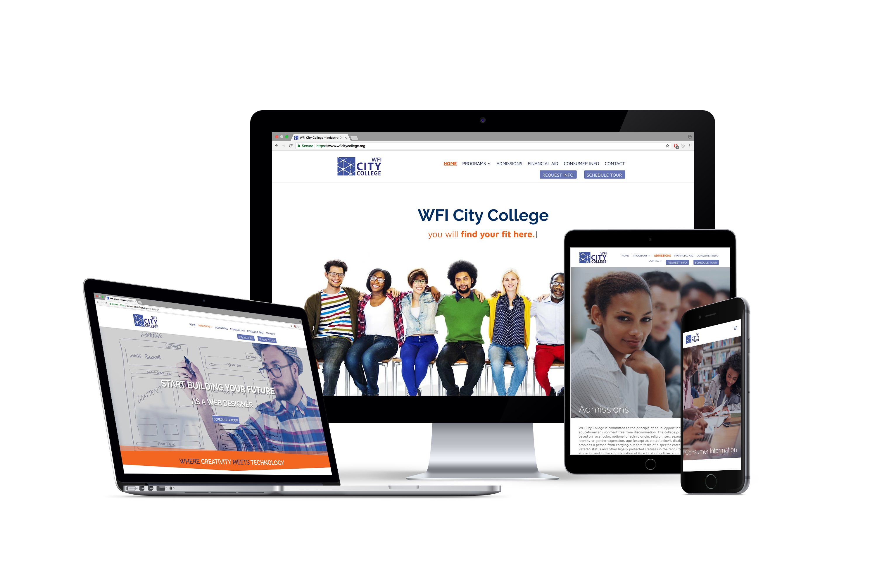 College Enrollment Marketing and Website Redesign
