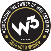 2018 GOLD W3 Awards Winner in Schools/University Websites