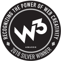 2018 W3 Silver Award Winner in User Experience for Websites