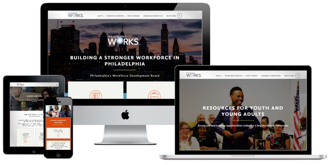 Website Redesign, development and digital transformation for Philadelphia Works