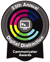 2019 Communicator Award of Digital Distinction winner for our Pro Bono work for Grounded in Philly in the Websites - General-Environmental Awareness for Websites category