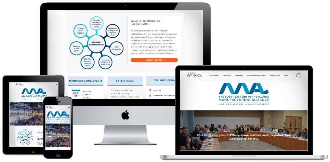 Award-winning Digital Experience for an Industry Partnership in Southeastern Pennsylvania